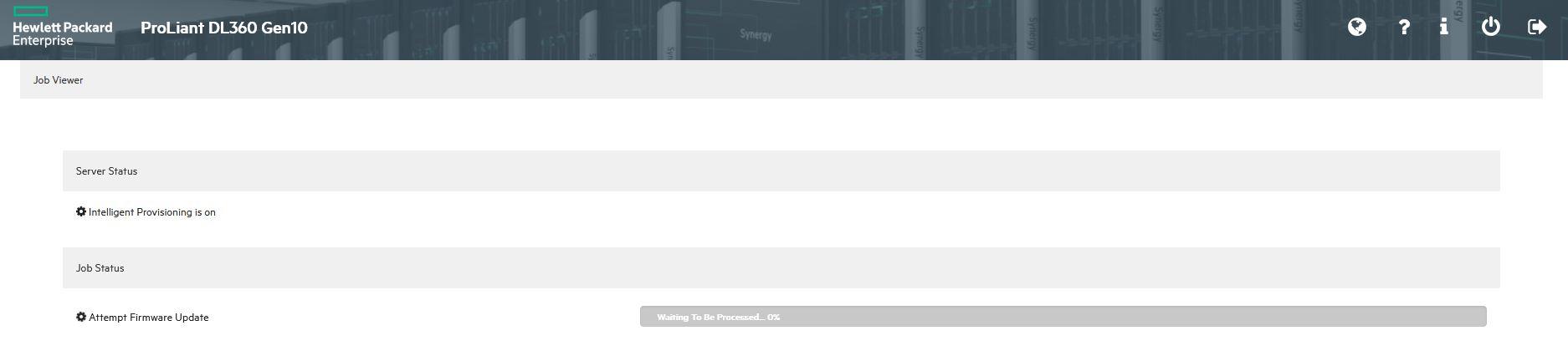 hpe intelligent provisioning firmware update url